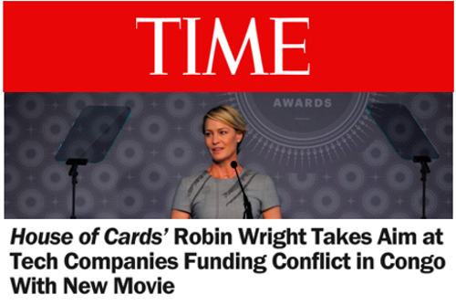 House of Cards' Robin Wright Takes Aim at Tech Companies Funding Conflict in Congo With New Movie
